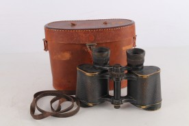 Original WWII German Carl Zeiss Jena Silvarem Binoculars 6x30 With Leather Box.