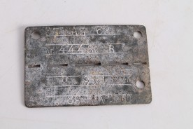 Origianl WWII German Relic Dog Tag Plate.