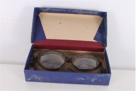 Original WWII Unused Parachute Pilot Goggles Glasses.