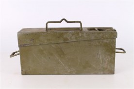 Original WWII Schwarzlose Ammo Belt Metal Box.