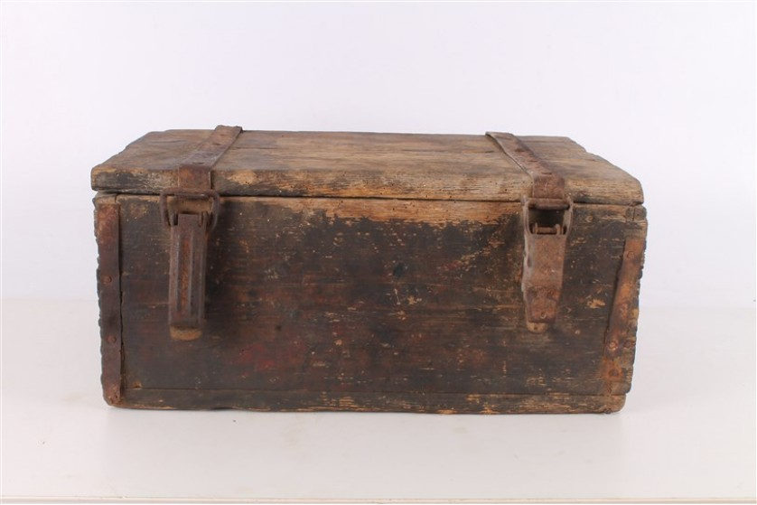 wooden ammo box german army wwii
