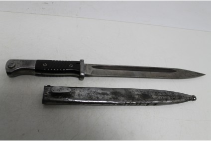 Original bayonet K-98. The scabbard and the bayonet are with equal numbers