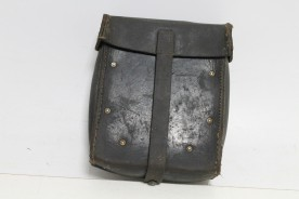 Vintage leather bag for sparke parts MG34, marked with eagle