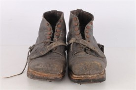 Original WWII German Brown Leather Boots.